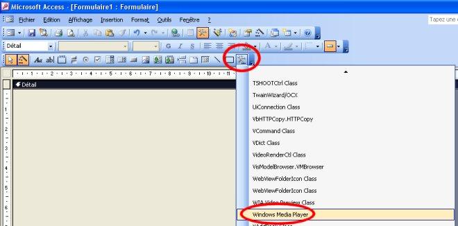 Contruction du formulaire sous 2003